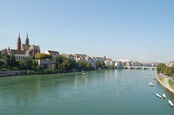 The Rhine near Basel (Credit: WIkimedia Commons)