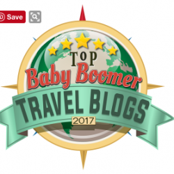 MTTT named Top Baby Boomer Travel Blog 2017