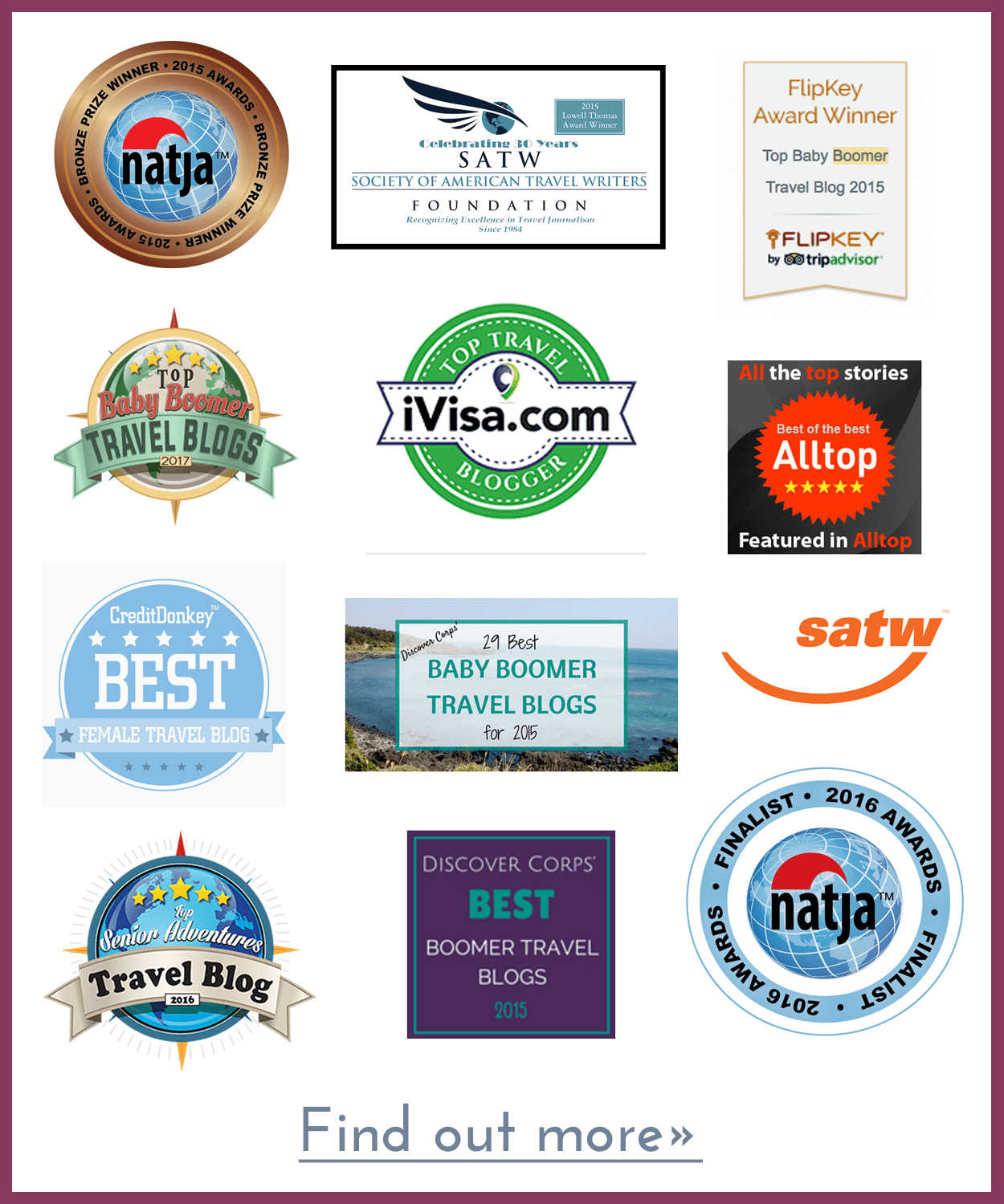 Awards & Citations for More Time to Travel