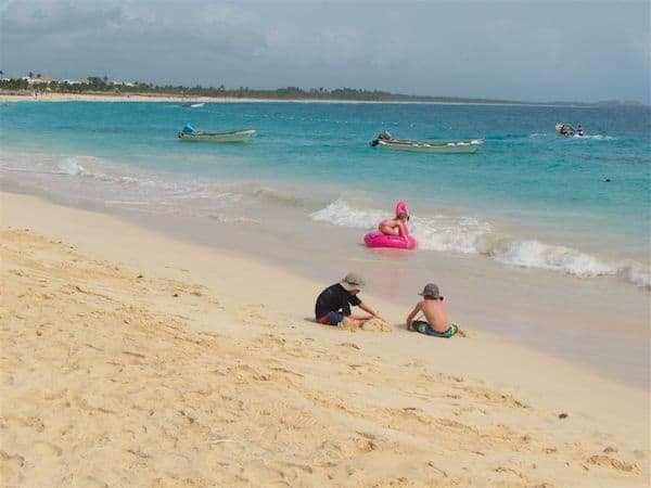 A three-generation vacation with a water park and beach is a recipe for fun!
