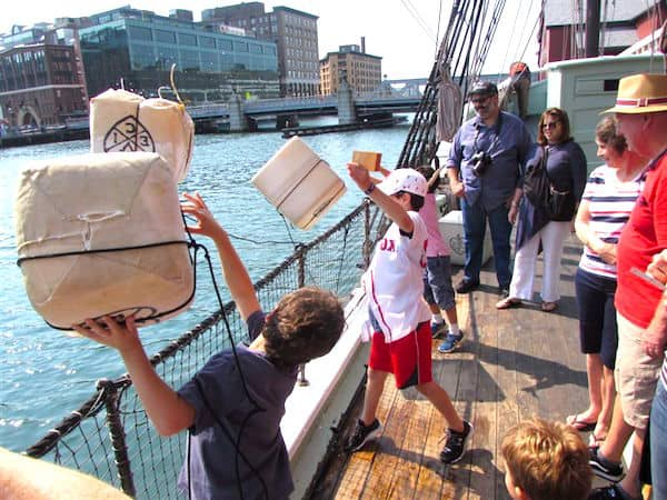 Tossing Tea Overboard in Boston: Great Family Fun