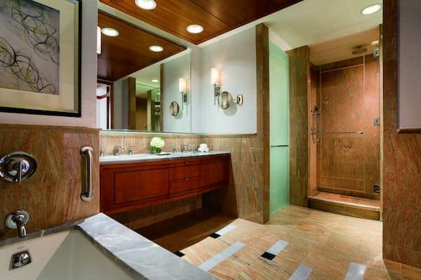 Our bathroom (Photo credit: Ritz-Carlton Westchester)