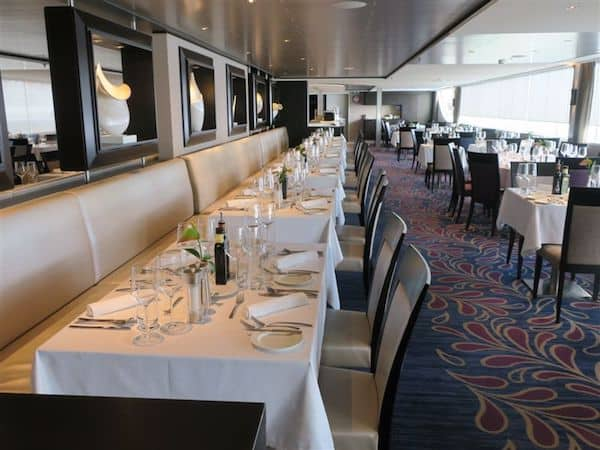 Dining room on the Avalon Expression