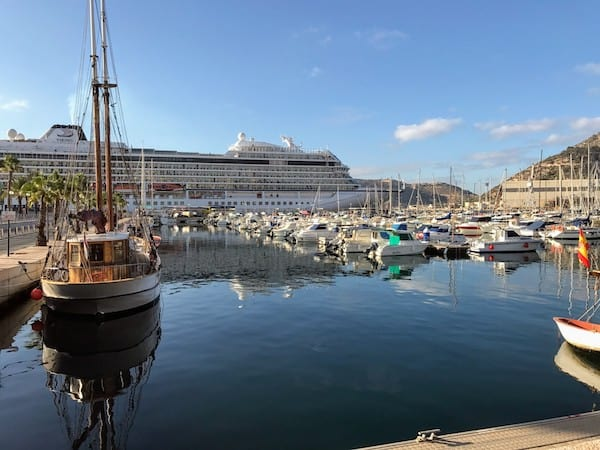 Viking Star at port in Cartagena, Spain
