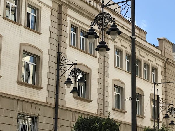 Street lamps in Cartagena, Spain