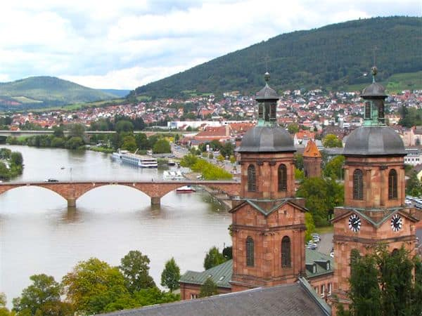 Miltenberg and the Main River in Germany