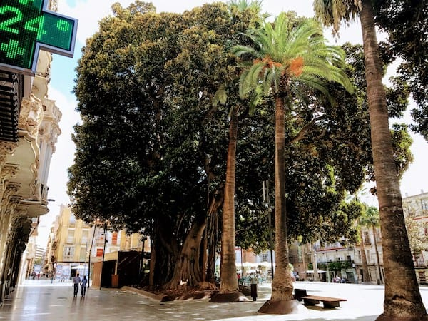 San Francisco Plaza in Cartagena, Spain