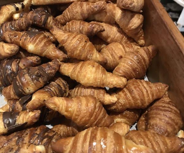 Mini-croissants at the Joan Miro lounge in Barcelona