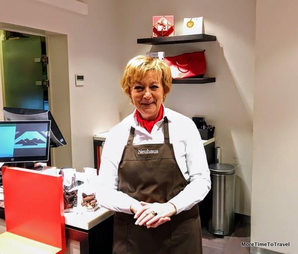 Marlene, the gracious shopkeeper at Neuhaus