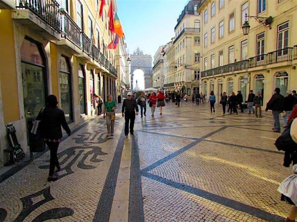 Lisbon's exotic sidewalks