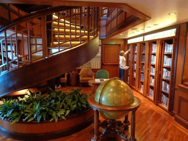 The two-story Queen Elizabeth library