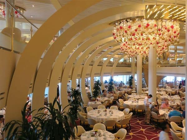 Interesting architecture of the Koningsdam dining room