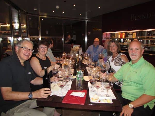 Mixing wines and making friends at BLEND on Koningsdam