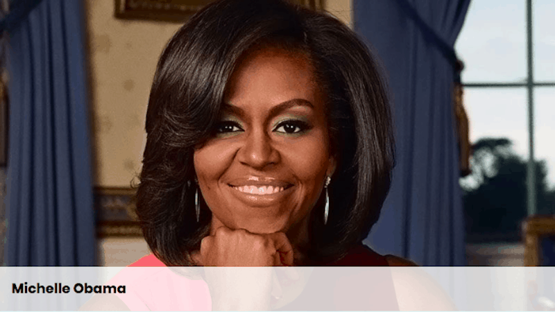 screenshot of Michelle Obama from ALA Promotional Materials