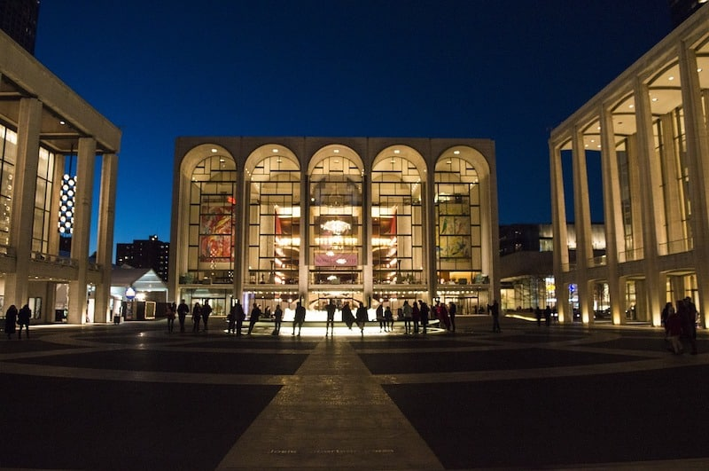 The magnificent Lincoln Center in New York: Home of the Metropolitan Opera