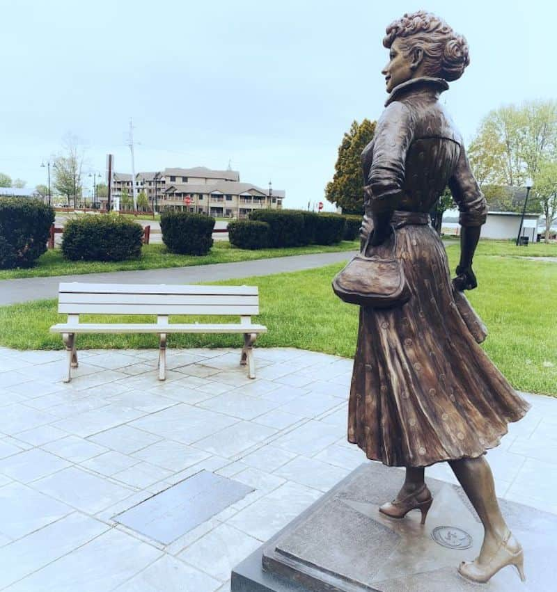 Statue of Lucille Ball in Jamestown NY