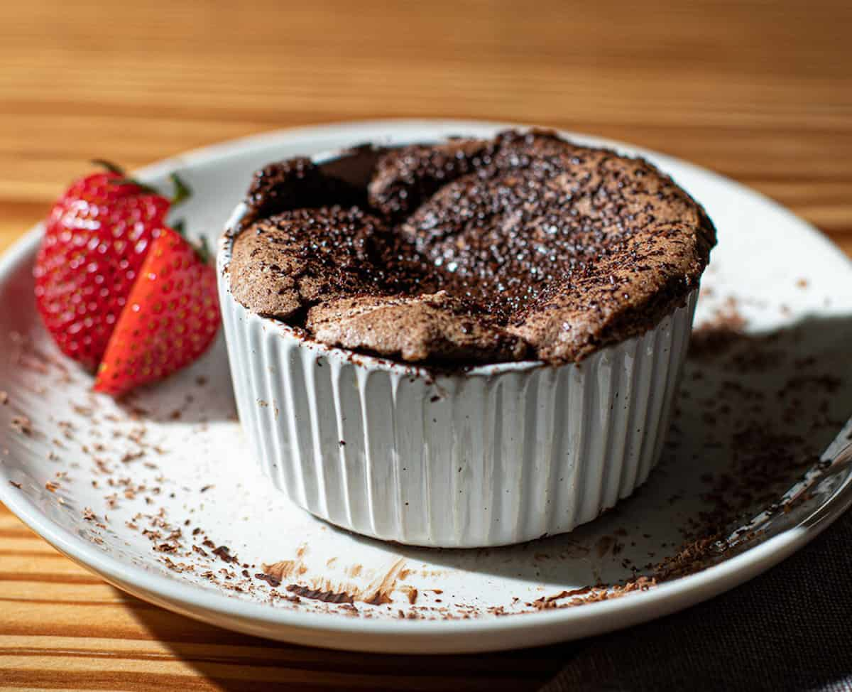 The Roman Chef's chocolate souffle