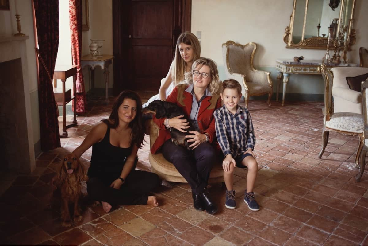 Miriam Masciarelli (left) with her mother and siblings