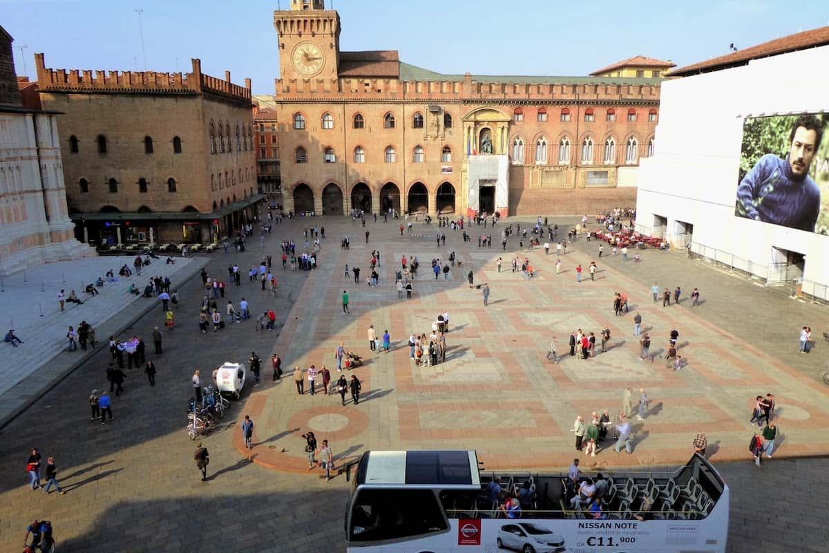 Piazza Maggiore from Above