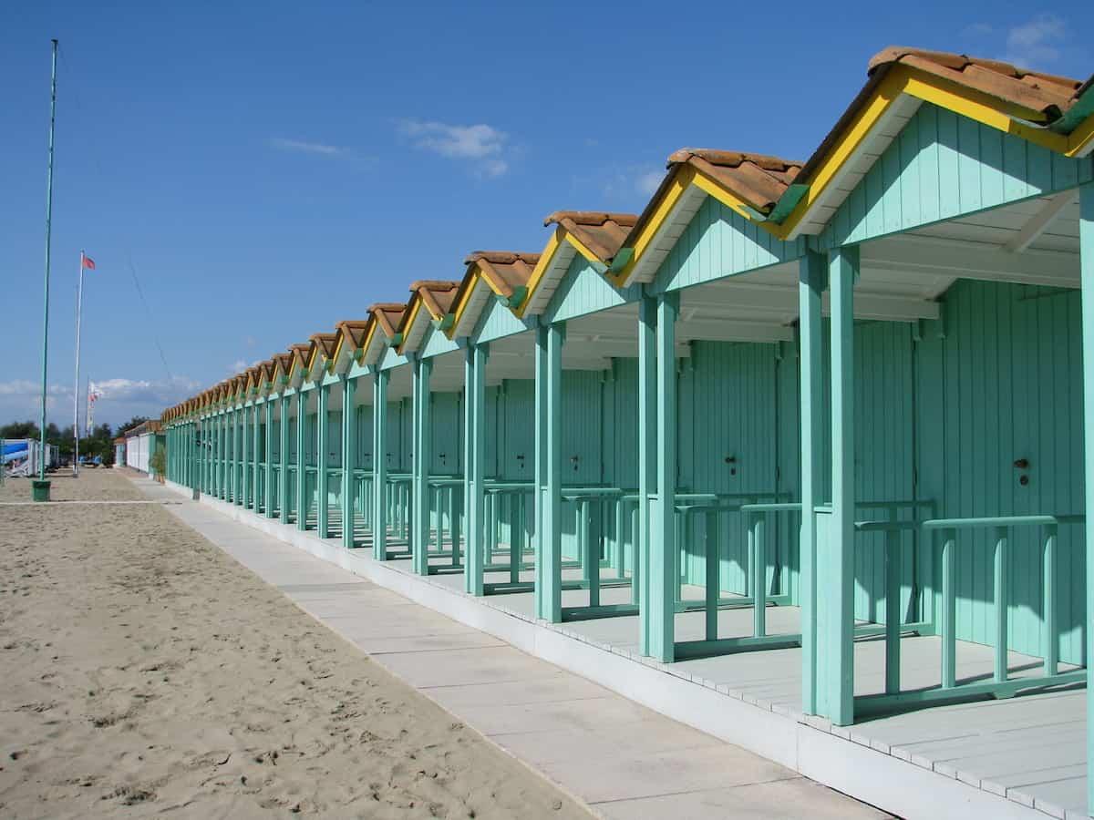 Cabanas on the beach in Forte dei Marmi